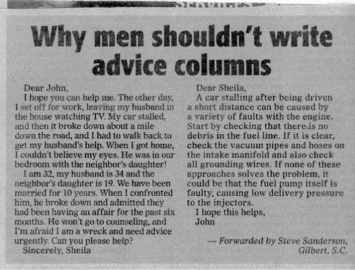 men shouldnt write