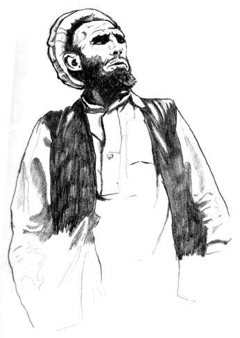 bill tool - older Afghan dude