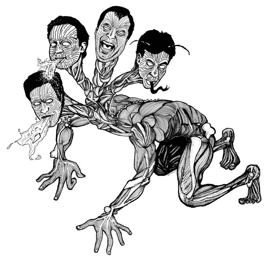 "Drawing by Shiel Yule - Nigel Farage, UK Independence Party David William Donald Cameron, Conservative Party, British Prime Minister Edward Samuel ""Ed"" Miliband, Labour Party Nicholas William Peter ""Nick"" Clegg, Deputy Prime Minister of the United Kingdom and Lord President of the Council, Liberal Democrat"